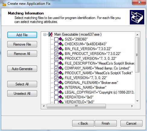 XPSP3 Shim Match File