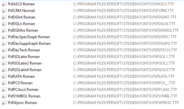 Fonts in the Application Folder