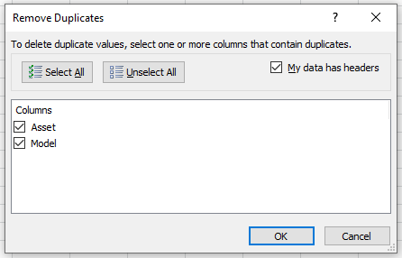 Removing Duplicate Rows Excel Header